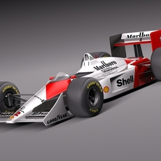 Mclaren Honda MP4-4 Ayrton Senna F1 3D Model