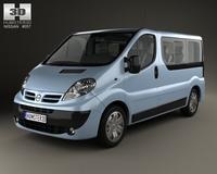 Nissan Primastar Passenger Van 2006 3D Model