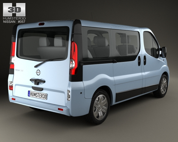 nissan primastar passenger van 2006 3d model. Black Bedroom Furniture Sets. Home Design Ideas