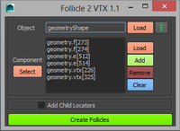 Free Follicels To Vertices for Maya 1.1.0 (maya script)