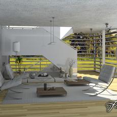living room 03 3D Model