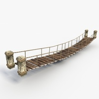 Low poly bridge 3D Model