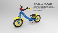 Bicycle Rigged & Textured 3D Model