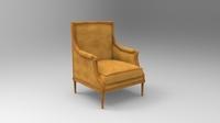 Bergere chair 3D Model