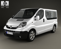 Opel Vivaro Passenger Van 2006 3D Model
