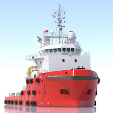 70 m. AHTS Anchor Handling Tug/Supply 3D Model