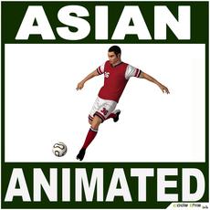 Soccer Player Asian (CG) 3D Model