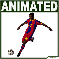 Black Soccer Player (Hi-Poly) 3D Model