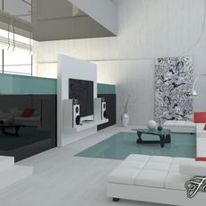 Living room 05 3D Model