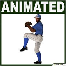 Black Baseball Player Hi-poly (PITCHER) 3D Model
