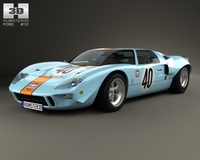 Ford GT40 1968 3D Model