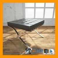 Ottoman Barcelona Chair 3D Model