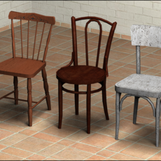 Chairs Pack 1 - Low Poly 3D Model