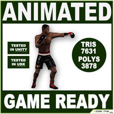 Black Boxer 7631 tris 3D Model