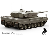 Leopard 2A4  Austrian Army version 3D Model