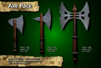 Free Medieval Axe Pack 3D Model