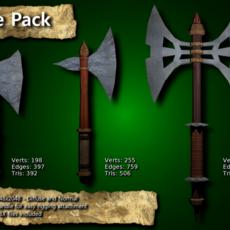 Medieval Axe Pack 3D Model
