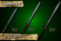 Medieval Sword Pack 3D Model