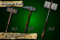 Free Medieval Hammer Pack 3D Model