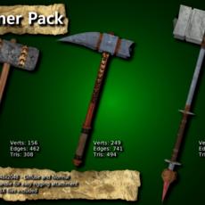 Medieval Hammer Pack 3D Model