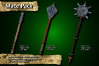 Free Medieval Mace Pack 3D Model