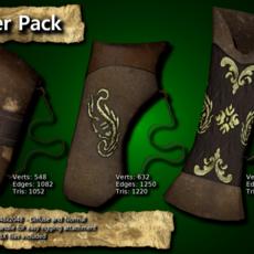 Medieval Quiver Pack 3D Model