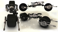 Free Batman bike batpod 3D Model