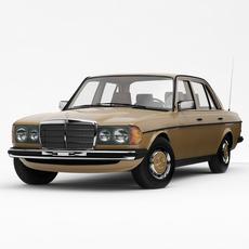 Mercedes-Benz W123 E-class Saloon 1976-85 3D Model