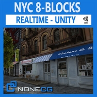 NYC 8 Blocks Unity 3D Model