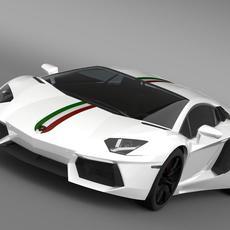 Lamborghini Aventador LP 700 4 Nazionale LB834 2014 3D Model