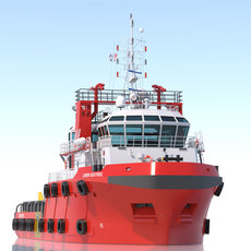 48m. AHTS Anchor Handling Tug 3D Model