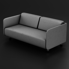 White couch 3D Model