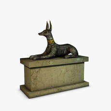 Anubis Sculpture 3D Model