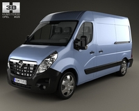 Opel Movano Panel Van 2010 3D Model