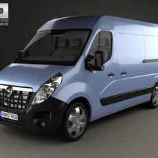 Opel Movano Panel Van 2010 3D Model