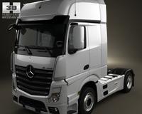 Mercedes-Benz Actros 1851 Tractor Truck 2-axis 2011 3D Model