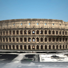 Roman Colosseum Ruins 3D Model