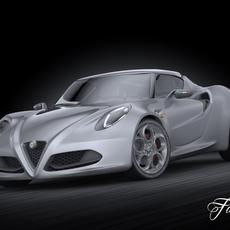Alfa Romeo 4C 3D Model