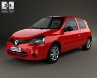 Renault Clio Mercosur 3-door hatchback 2013 3D Model