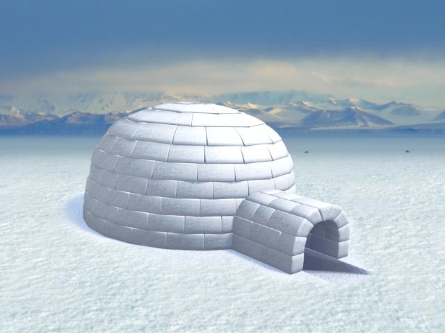 how to make an igloo model
