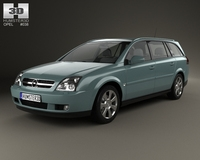 Opel Vectra caravan 2002 3D Model