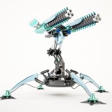 Sci-Fi Gun Tower02 3D Model