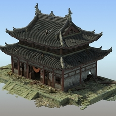 Shabby Chinese temple 3D Model