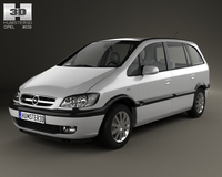 Opel Zafira (A) 2000 3D Model