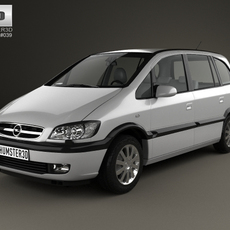 Opel Zafira (A) 2000 3D Model