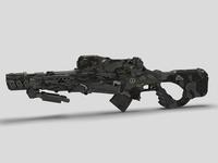 Sci-Fi Gun 03 3D Model