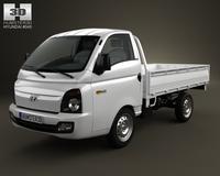 Hyundai HR (Porter) Flatbed Truck 2013 3D Model