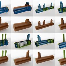 Water treatment plants 3D Model