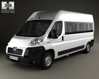 Peugeot Boxer Passenger Van 2007 3D Model