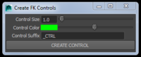 Free FK Control Creator for Maya 1.1.0 (maya script)